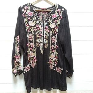 Johnny Was Tops - Johnny Was Tunic in Dark Brown